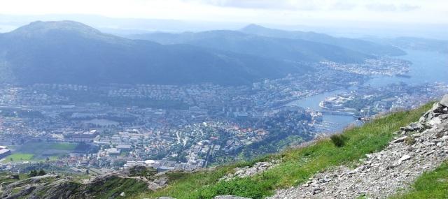 Ausblick vom Fløyen in Bergen