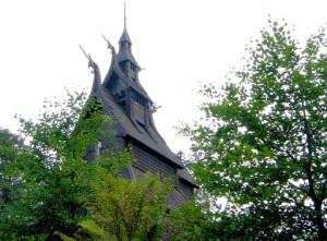 Stabkirche Fantoft in Bergen flickr (c) tuey CC-Lizenz