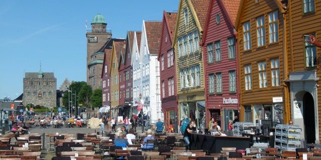 Touristeninformation Bryggen in Bergen Norwegen
