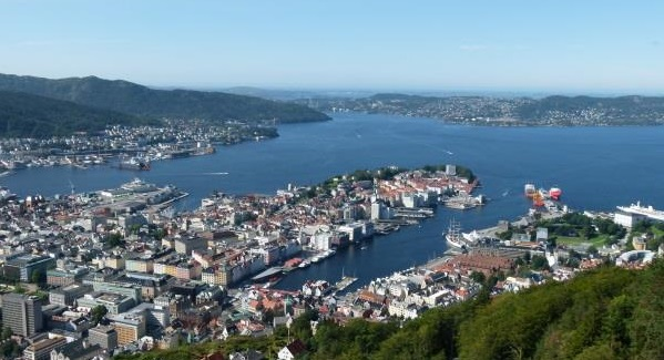 Bergen in Norwegen Aussicht